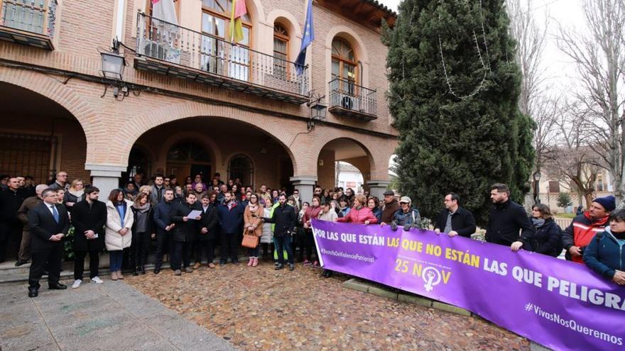 Concentración en La Puebla de Almoradiel
