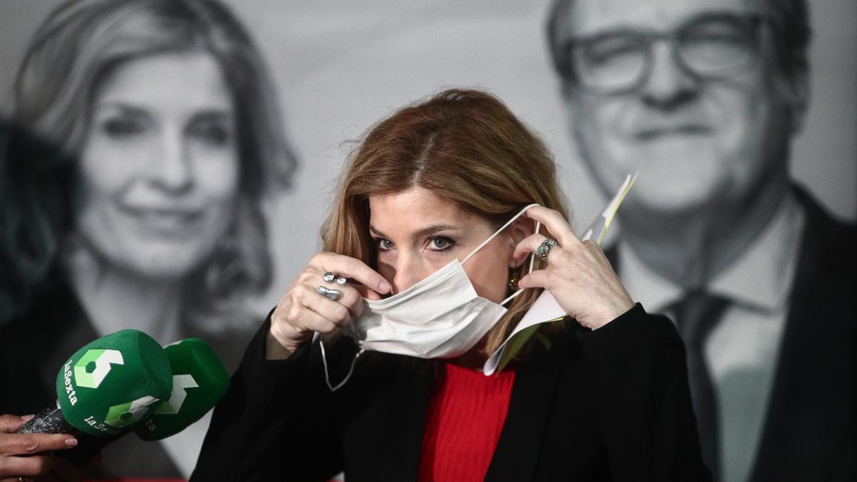La diputada del PSOE en la Asamblea de Madrid, Hana Jalloul, en una foto de la campaña a las elecciones del 4M
