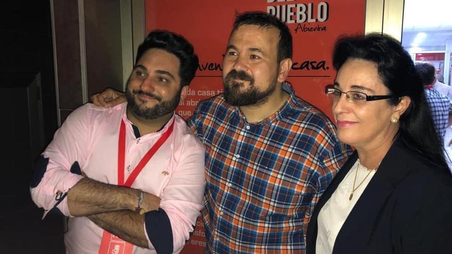 Juan Ramón Amores, este domingo por la noche, tras conocerse los resultados de los comicios municipales en La Roda.