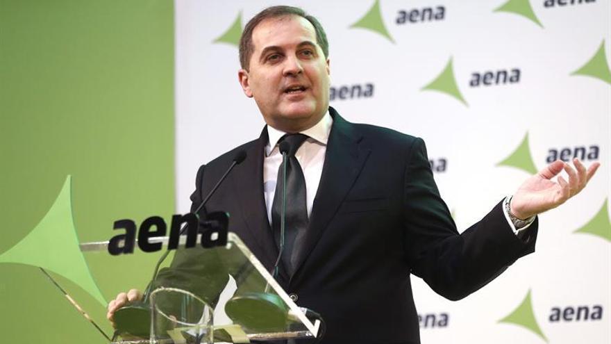 Aena gana un 6,4 % menos hasta junio por los extraordinarios de 2016