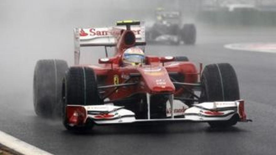 Fernando Alonso durante la carrera. (EUROPA PRESS)
