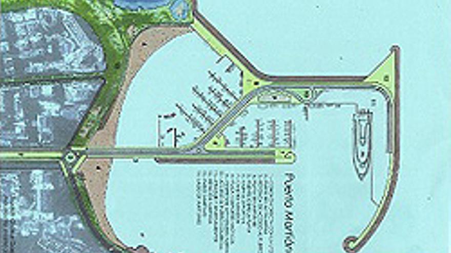 Propuesta de nuevo puerto ideada por el arquitecto Joaquín Galera.