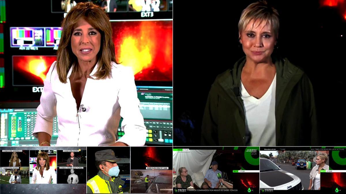 Ana Terradillos (Cuatro) ante Gloria Serra (laSexta), en directo desde La Palma