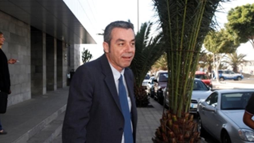 Carlos Espino, tras prestar declaración. (ACFI PRESS)