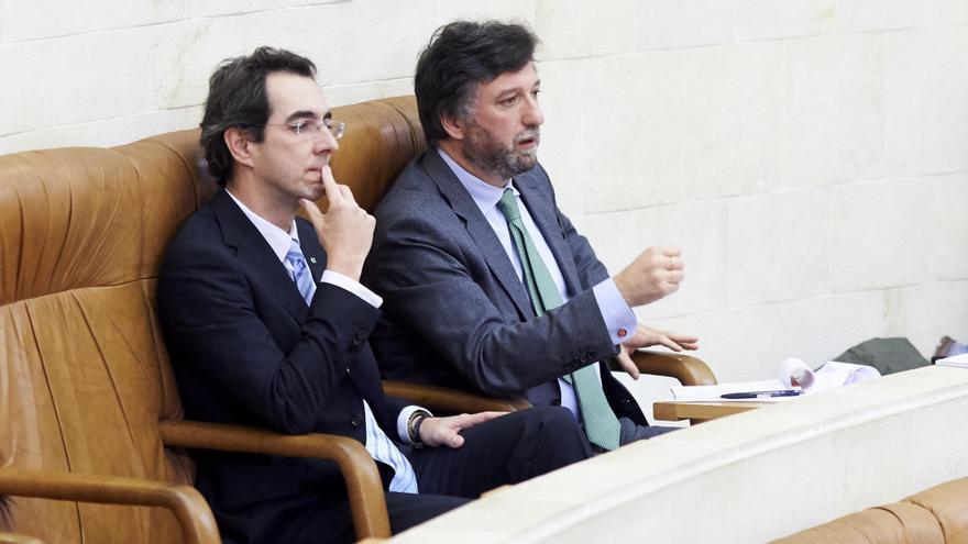 Armando Blanco y Cristóbal Palacio, diputados del Vox en el Parlamento.