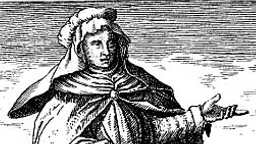 Grabado de representación de María la Profetisa del libro de Michael Maier Symbola Aurea Mensae Duodecim Nationum (1617) - Wikipedia