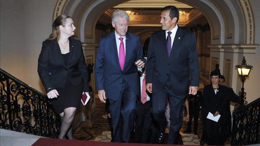 Humala se reunió con Clinton en el Palacio de Gobierno de Lima