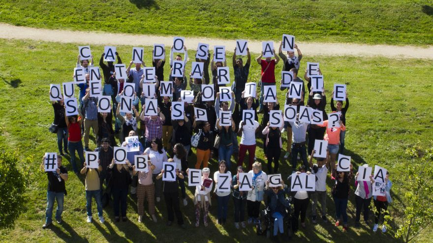 Acción reivindicativa realizada hace años por EAPN-Galicia