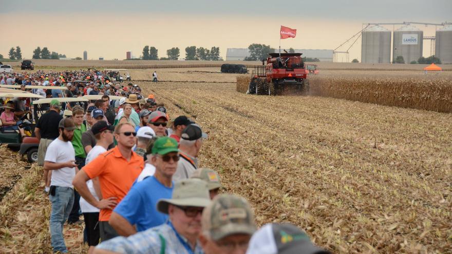 Imagen de la edición de este año de la Farm Progress Show, la feria agraria más grande del mundo.