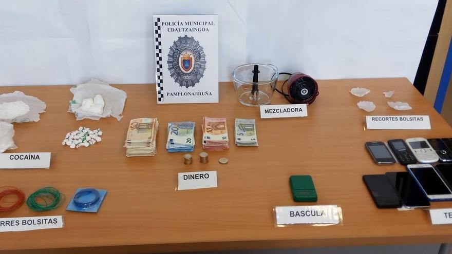 La Policía Municipal detiene a una persona acusada de tráfico de drogas en el barrio de San Jorge