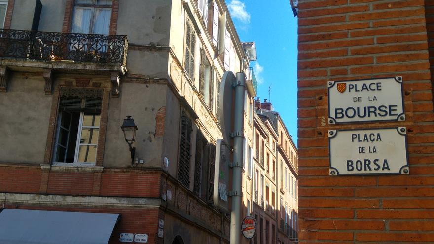Calles en francés y en aranés.