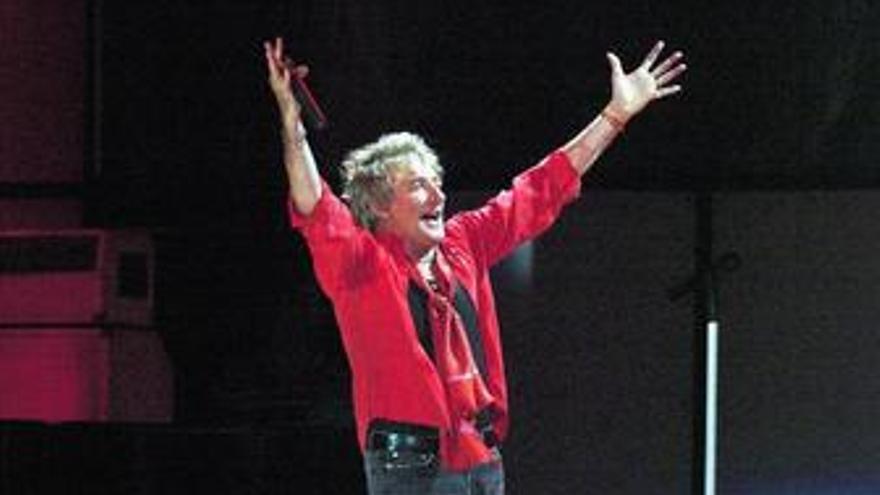 Rod Stewart en un concierto celebrado en Madrid.