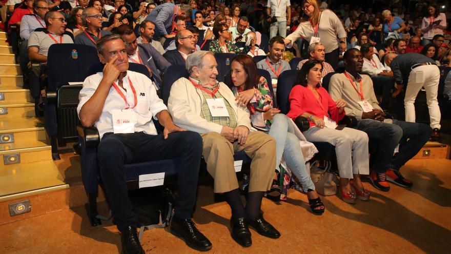 Juan Fernando López Aguilar, Jerónimo Saavedra, Patricia Hernández, Carolina Darias y Luc André Diouf.