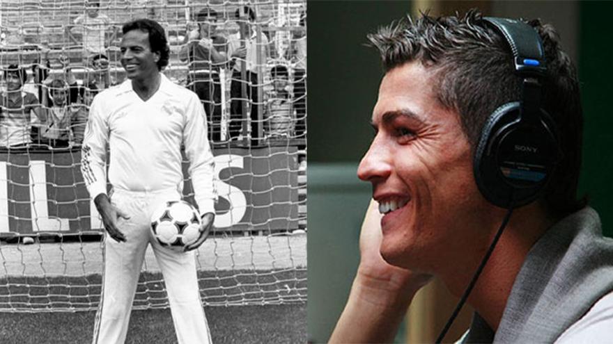 Cristiano Ronaldo y Julio Iglesias