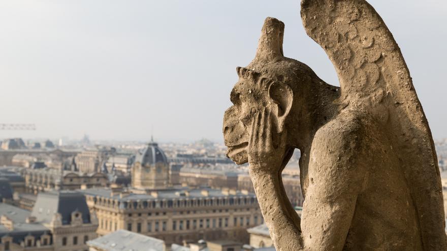 Detalle de las célebres gárgolas de Notre-Dame. FOTO: GTRES.