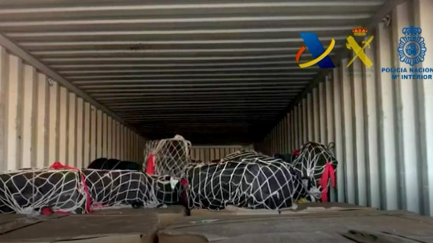 El alijo fue hallado en el interior de un contenedor en el Puerto de Valencia