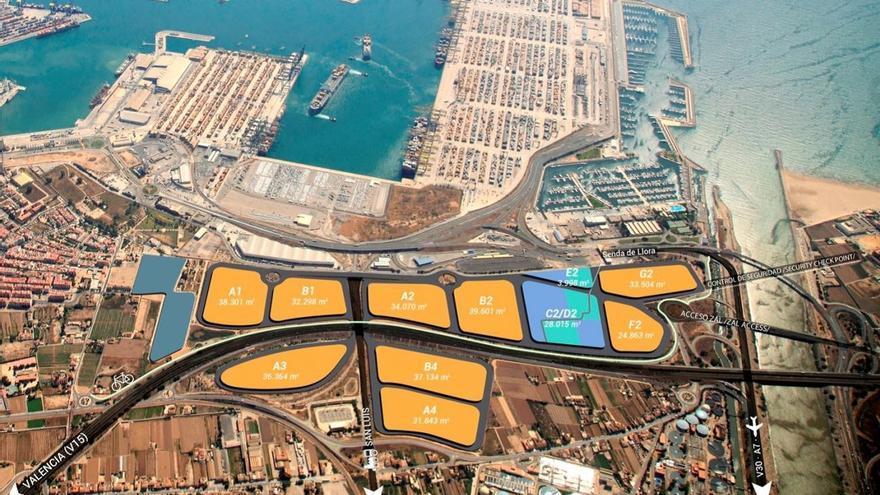 Plano de la ZAL del Puerto de València