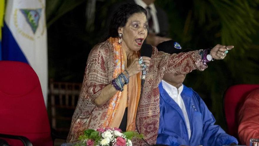 La vicepresidenta de Nicaragua Rosario Murillo.