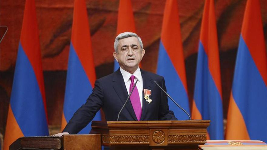 El presidente armenio llega a Nagorno Karabaj en medio de la tensión con Azerbaiyán