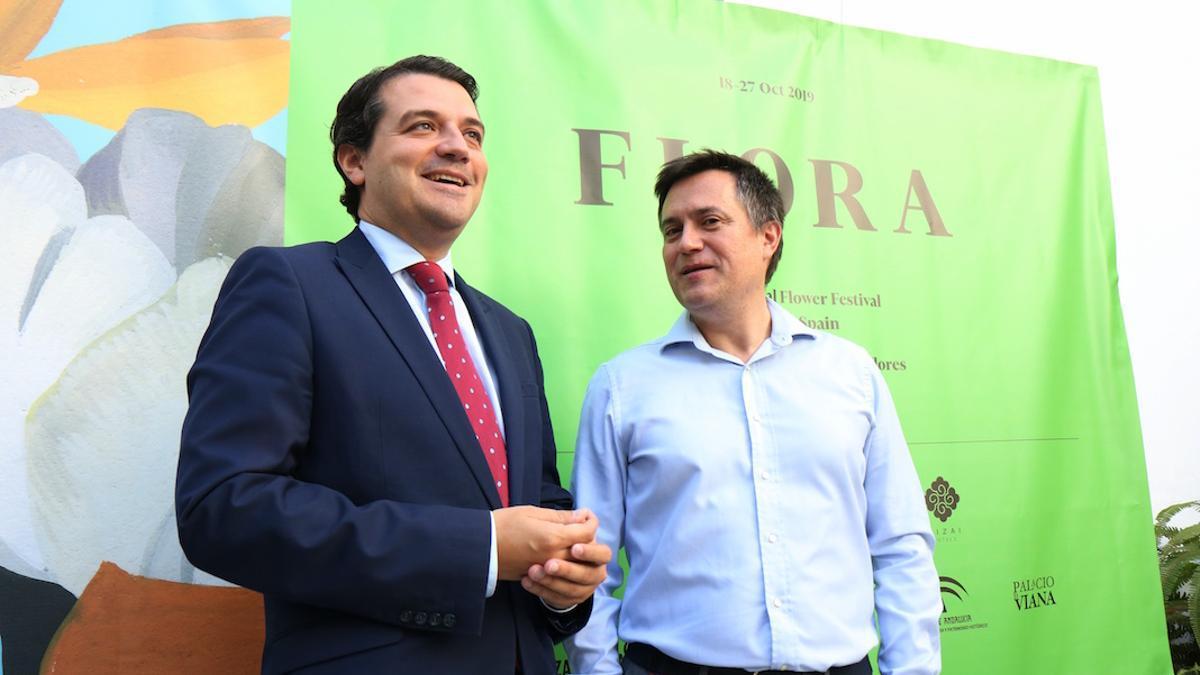 El alcalde José María Bellido y el fundador de Zizai Hoteles en la presentación del Festival Flora | RAFA MELLADO