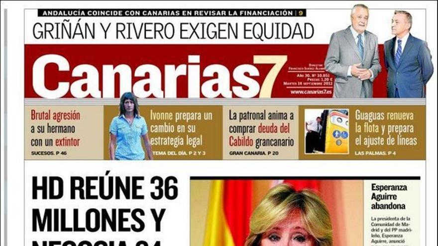 De las portadas del día (18/09/2012) #2