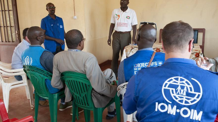 Misión conjunta de la OIM, el PNUD y ACNUR (agencias de la ONU) en Burundi en 2018.