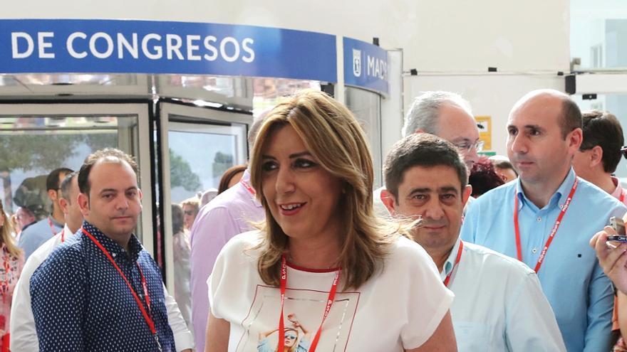 Susana Díaz entrando en el congreso federal del PSOE