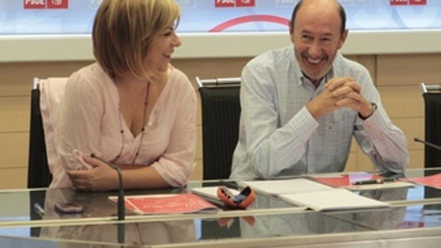 Rubalcaba y Valenciano en la Comisión Permanente del PSOE