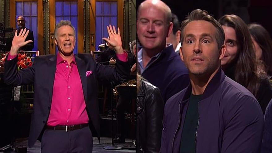 """Ryan Reynolds se cuela por sorpresa entre el público del 'SNL' de Will Ferrell: """"No sabía que ibas a estar aquí"""""""