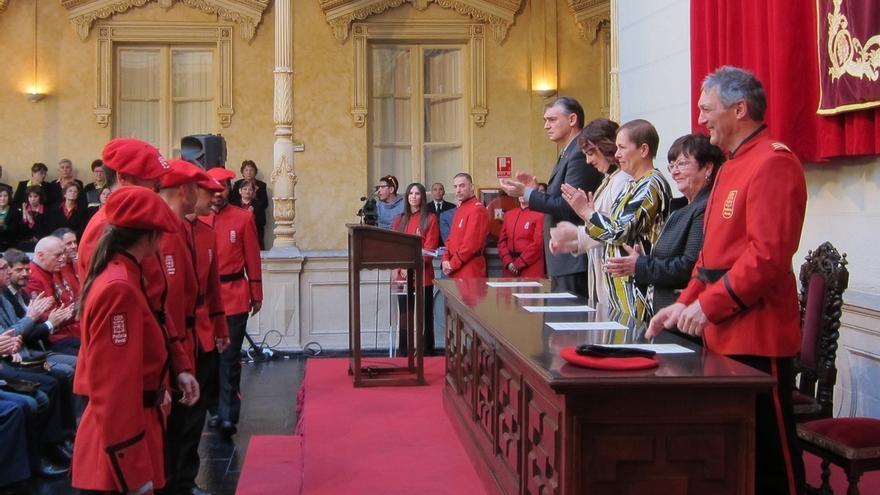 """Barkos destaca que la Policía Foral """"es referencia de la seguridad pública"""" en Navarra"""