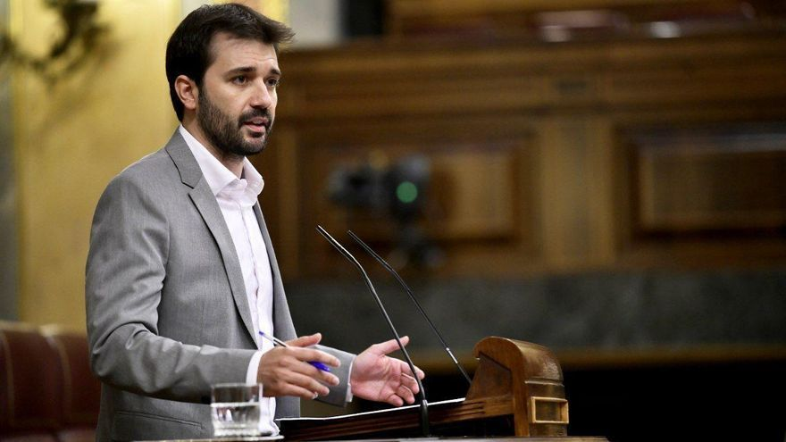 El diputado Javier Sánchez Serna en el Congreso