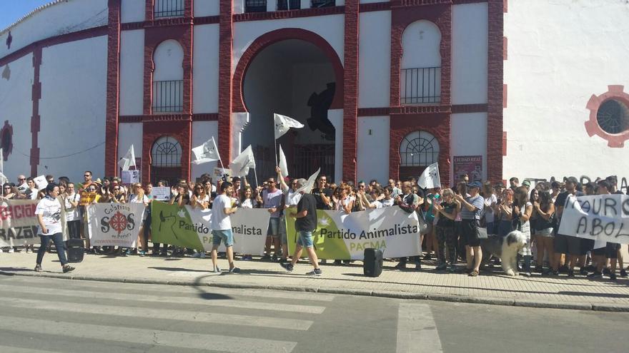 Manifestación antitaurina de PACMA en Ciudad Real
