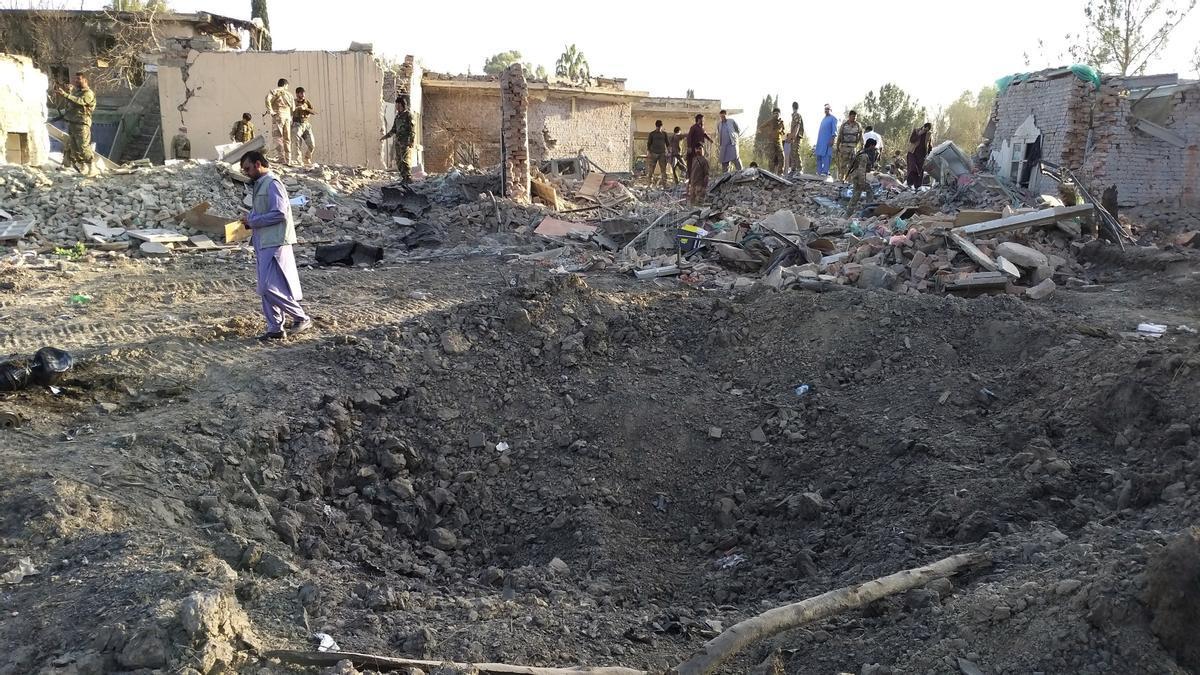 Imagen de un atentado con coche bomba en Jost, Afganistán