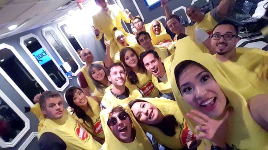 Los 'snapchaters' durante un evento celebrado en Austin en marzo
