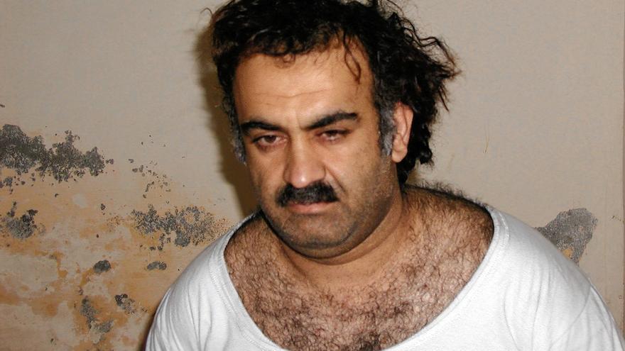 Fotografía tomada por autoridades estadounidenses en el momento de la detención de Khalid Sheikh Mohammed en Pakistán, 2003.