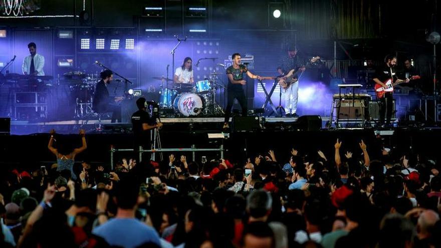 La banda madrileña de indie rock, Vetusta Morla, durante una actuación.