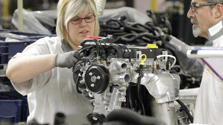 La producción industrial empeora 2,9 puntos hasta caer el 1,8 por ciento en agosto