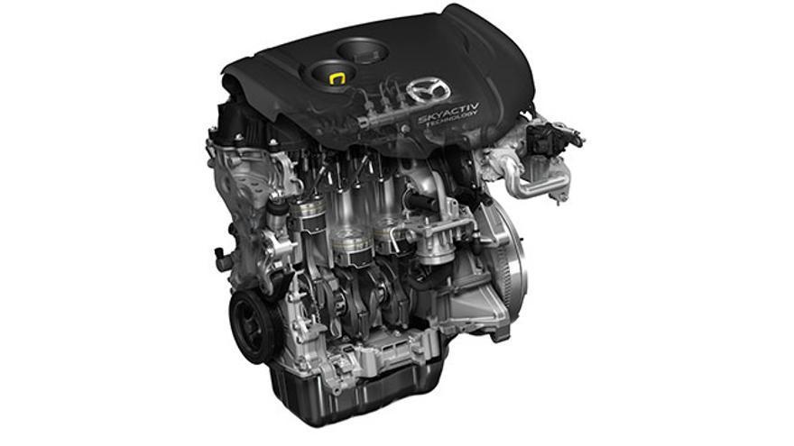 Motor del Mazda CX-5.
