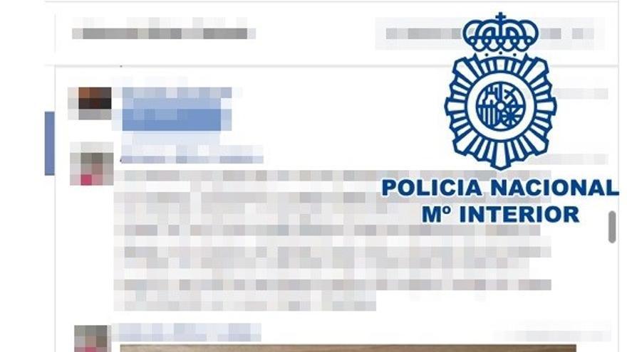 Detienen a un joven en Telde por amenazas graves a través de redes sociales con perfiles falsos