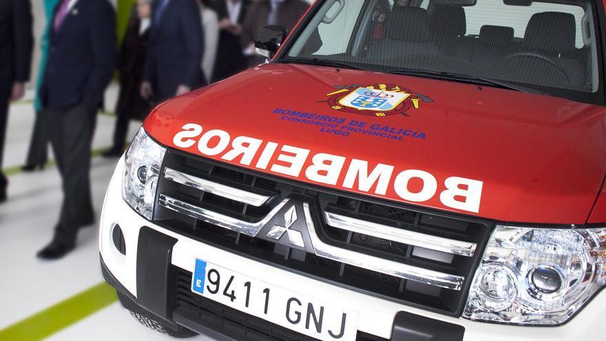 Vehículo de bomberos en el parque de Vilalba (Lugo) gestionado hasta ahora por la empresa Veicar