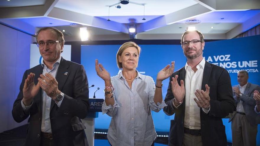 Cospedal: Sin un PP vasco fuerte no hay muro de contención al nacionalismo