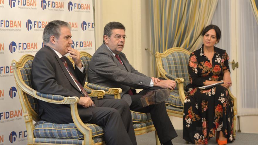 Los patronos de la Fundación Santos Gracia, presidente de Funiber, y Ángel Agudo.