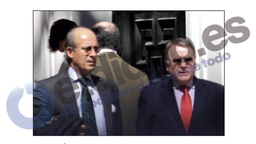 Edmundo Rodríguez tras una reunión con su socio Ignasi Maestre.