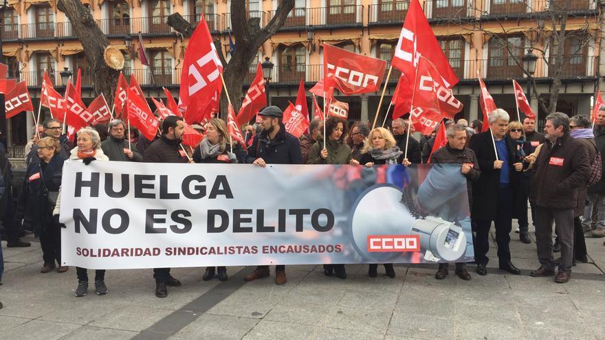 Manifestación en Toledo en apoyo a Los Ocho de Airbus / CCOO