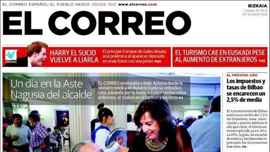 Las portadas del día (23/08/2012) #3