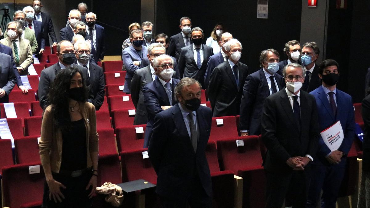 El auditorio de ESADE ha reunido este miércoles a representantes de los agentes económicos catalanes