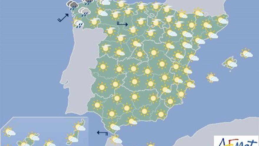 Hoy, chubascos en Pirineos y viento fuerte en Cantábrico y valle del Ebro