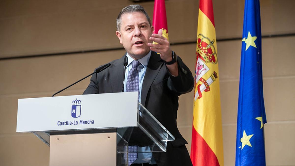 Emiliano García-Page, presidente de Castilla-La Mancha, en Torrijos (Toledo)