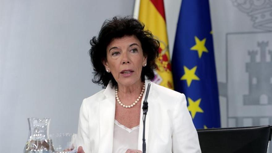 La ministra y portavoz del Gobierno, Isabel Celaá.