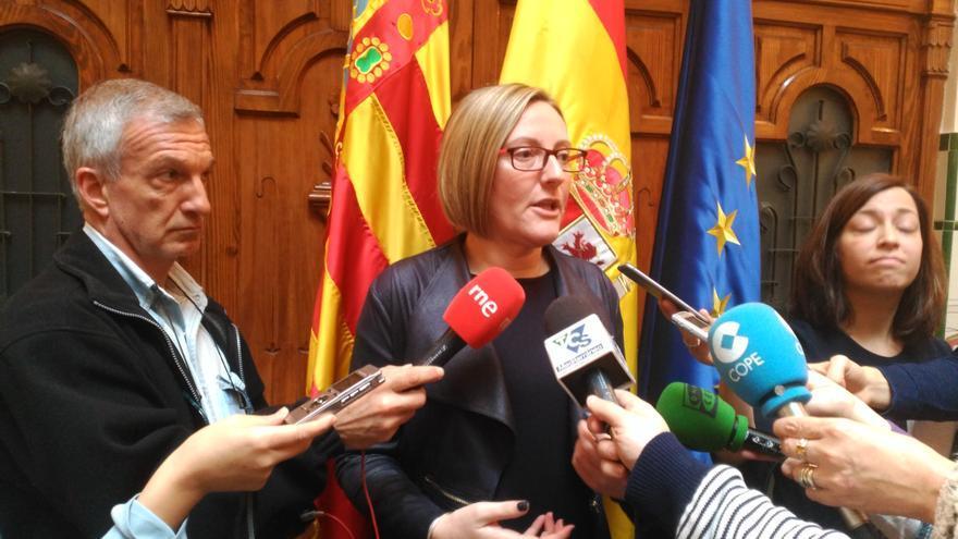 La consellera de Vivienda, María José Salvador, en una comparecencia en Castellón.